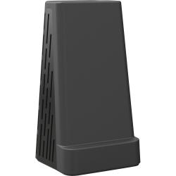 "Artistic Mobile Device Holder/Pencil Cup - 5.3"" Height x 3.1"" Width2.7"" Length - Desktop - Black - 1Each"