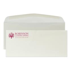 "Custom PMS 1-Color Flat Print #10 Envelopes, Classic Crest®, 4-1/8"" x 9-1/2"", Natural White, Box Of 250 Envelopes"