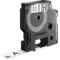 "Dymo D1 Durable Labels - 1/2"" Width x 18 ft Length - White - 1 Each"