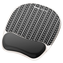 Fellowes® Photo Gel Mouse Pad And Wrist Rest With Microban®, Chevron Pattern