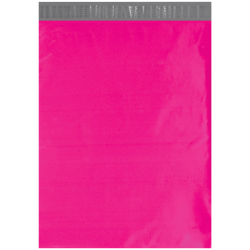 "Office Depot® Brand 14-1/2"" x 19"" Poly Mailers, Pink, Case Of 100 Mailers"