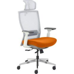 True Commercial Pescara High-Back Executive Chair, Orange/Off-White