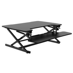 "FlexiSpot M8M Height-Adjustable Stand-Up Desk Converter, 19-3/4""H x 35""W x 23-1/4""D, Black"