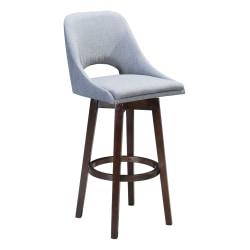 Zuo Modern® Ashmore Bar Chair, Gray/Wood