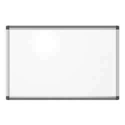 """U Brands PINIT Magentic Dry-Erase Whiteboard, 24"""" x 36"""", Aluminum Frame With Silver Finish"""