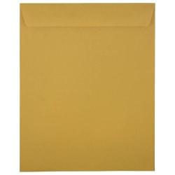 JAM Paper® Open-End Envelopes, 11-1/2 x 14-1/2, Gummed Seal, Brown Kraft, Pack Of 100 Envelopes