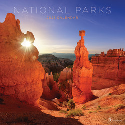 "TF Publishing Scenic Monthly Wall Calendar, 12"" x 12"", National Parks, January To December 2021"