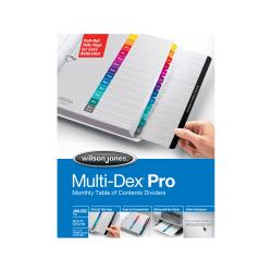 Wilson Jones® Multidex® Index System, 12-Month Tab
