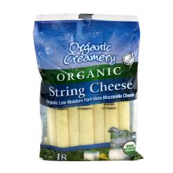 Organic Creamery Organic String Cheese, 1 Oz, Pack Of 18