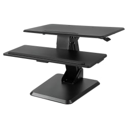 "Mount-It MI-7960 Standing Desk Converter, 29-1/8""H x 35-3/16""W x 8-5/8""D, Black"