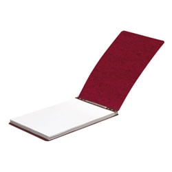 """ACCO® Presstex® Top-Bound Report Binder, 2-3/4"""" CC, 8-1/2"""" x 14"""", 60% Recycled, Red"""