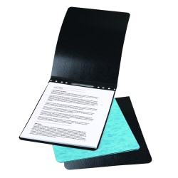 "ACCO® Presstex® Top-Bound Report Binder, 4-1/4"" CC, 8-1/2"" x 14"", 60% Recycled, Black"