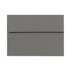 """LUX Invitation Envelopes With Peel & Press Closure, A9, 5 3/4"""" x 8 3/4"""", Smoke Gray, Pack Of 500"""