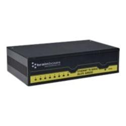 Brainboxes ES-279 - Device server - 8 ports - 100Mb LAN, RS-232 - DC power