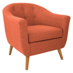 Lumisource Accent Chair, Rockwell, Orange/Brown