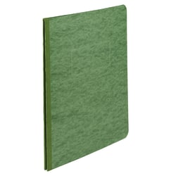 "ACCO® Pressboard Report Cover With Fastener, Side Bound, 8 1/2"" x 11"", 60% Recycled, Dark Green"
