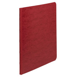 "ACCO® Pressboard Report Cover With Fastener, Side Bound, 8 1/2"" x 11"", 60% Recycled, Earth Red"