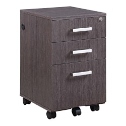 "Forward Furniture Horizon 18""D Vertical 3-Drawer Mobile File Cabinet, Appalachian Smoke"