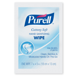 Purell® Cottony Soft Hand Sanitizing Wipes, Unscented, Carton Of 1,000 Wipes