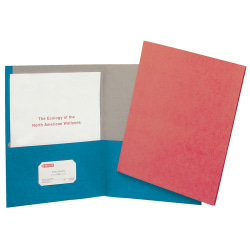 Earthwise® by Oxford™ Twin-Pocket Folder, 95% Recycled, Blue, Box Of 25