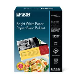 "Epson® Bright White Pro Paper, Letter Size (8 1/2"" x 11""), 96 (U.S.) Brightness, Ream Of 500 Sheets, #S041586"