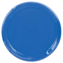 "Amscan Round Plastic Platters, 16"", Bright Royal, Pack Of 5 Platters"