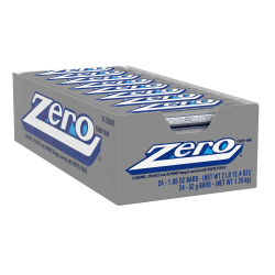ZERO Candy Bars, 1.85 Oz, Box Of 24