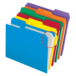 Pendaflex® Color Reinforced Top File Folders With Interior Grid, 1/3 Cut, Letter Size, Assorted Colors, Pack Of 100