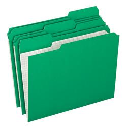 Pendaflex® Reinforced-Top File Folders, 1/3 Cut Tab, Letter Size, Bright Green, Box Of 100 Folders
