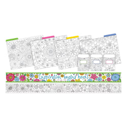 Barker Creek Color Me! Curated Collection Bulletin Board Set, Multicolor