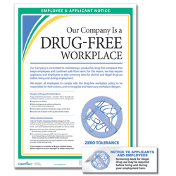 ComplyRight™ Drug-Free Workplace Poster And Sticker Bundle, English