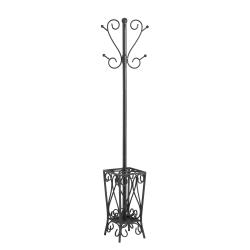 "Southern Enterprises Multipurpose Decorative Coat Rack, Hall Tree, 69""H x 13""W x 13""D, Black"
