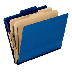 "Pendaflex® PressGuard® Color Classification File Folder, 8 1/2"" x 11"", Letter Size, 60% Recycled, Blue, Box Of 10"