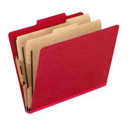 "Pendaflex® PressGuard® Color Classification File Folder, 8 1/2"" x 11"", Letter Size, 60% Recycled, Scarlet, Box Of 10"