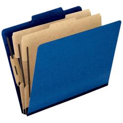 "Pendaflex® PressGuard® Color Classification File Folder, 8 1/2"" x 14"", Legal Size, 60% Recycled, Blue, Box Of 10"