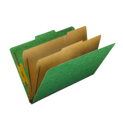 "Pendaflex® PressGuard® Color Classification File Folder, 8 1/2"" x 14"", Legal Size, 60% Recycled, Green, Box Of 10"