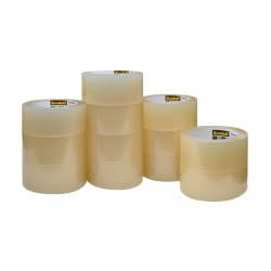 """Scotch® 3750 Greener Commercial Grade Packing Tape, 1-7/8"""" x 49.2 Yd., Clear, Pack Of 12 Rolls"""