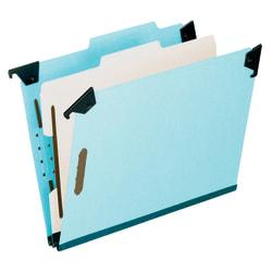 Pendaflex® Hanging Classification Folders, 1 Divider, 4 Partitions, Letter Size, Blue