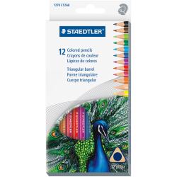 Staedtler Tradition Color Pencil Set - 2.9 mm Lead Diameter - Assorted Lead - Wood Barrel - 12 Piece