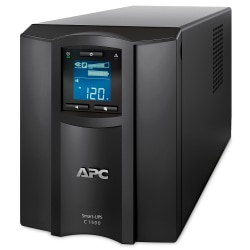 APC® Smart-UPS C 8-Outlet Tower With SmartConnect, 1,500VA/900 Watts, SMC1500C