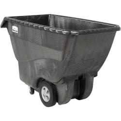 "Rubbermaid Commercial Structural Foam Standard Tilt Truck - 1000 lb Capacity - Structofoam - x 30.2"" Width x 64.5"" Depth x 38"" Height - Black - 1 Each"