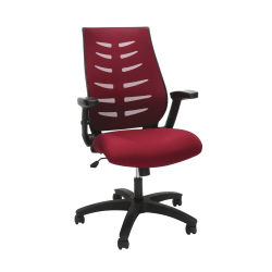 OFM Core Collection Model 530 Mesh Mid-Back Office Chair, Burgundy/Black
