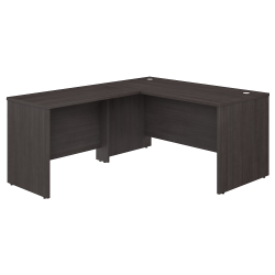 "Bush Business Furniture Studio C 60""W L-Shaped Desk With 42""W Return, Storm Gray, Premium Installation"