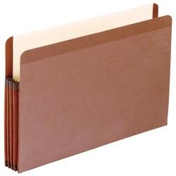 "Pendaflex® Tyvek® Premium Reinforced File Pocket, 3 1/2"" Expansion, 9 1/2"" x 14 3/4"", Dark Brown"