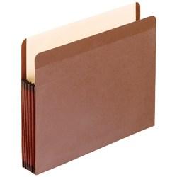 "Pendaflex® Premium Reinforced File Pocket, 5 1/4"" Expansion, 9 1/2"" x 14 3/4"", Dark Brown, Box Of 5"