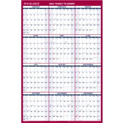 "AT-A-GLANCE® Vertical/Horizontal Reversible Erasable Wall Calendar, 36"" x 24"", January To December 2022, PM2628"