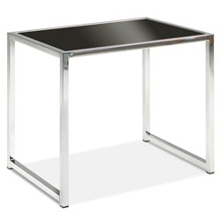Ave Six® Yield End Table, Chrome/Black