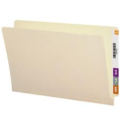 Smead® Manila Reinforced End-Tab Folders, Straight Cut, Legal Size, Pack Of 100