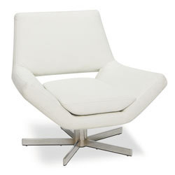 """Avenue Six Yield Collection Swivel Chair, 30"""" W, White"""