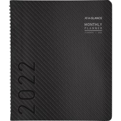 """AT-A-GLANCE® Contemporary Monthly Planner, 9"""" x 11"""", Graphite, January To December 2022, 70260X45"""